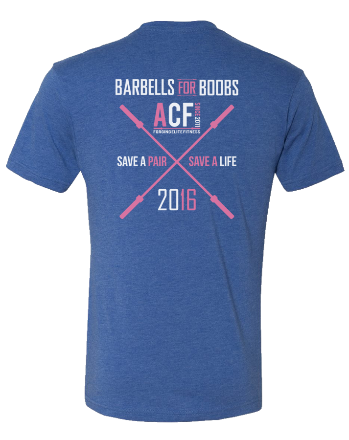 ACF 2016 Barbells for Boobs Tee (Limited Edition)