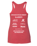 ACF 2016 Hike for Hunger Racerback (Vintage Red)