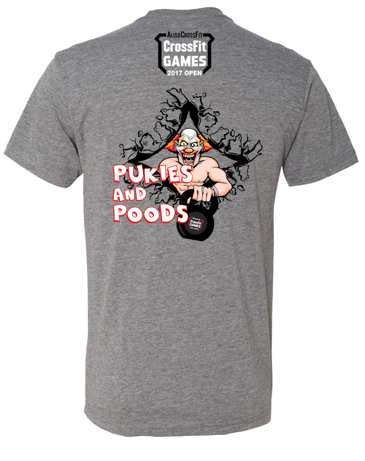 ACF 2017 Open Mens Tee (Pukies and Poods) (Premium Heather)
