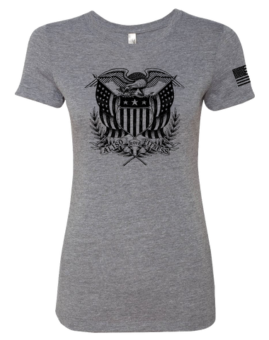 Aliso Fitness Patriot Eagle Womens Tri-Blend Tee (PremiumHeather)