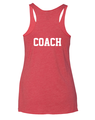 ACF Bear Pocket Womens Tri-Blend Racerback Tank (VintageRed)