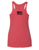 Aliso Fitness Patriot Eagle Womens Tri-Blend Racerback Tank (VintageRed)