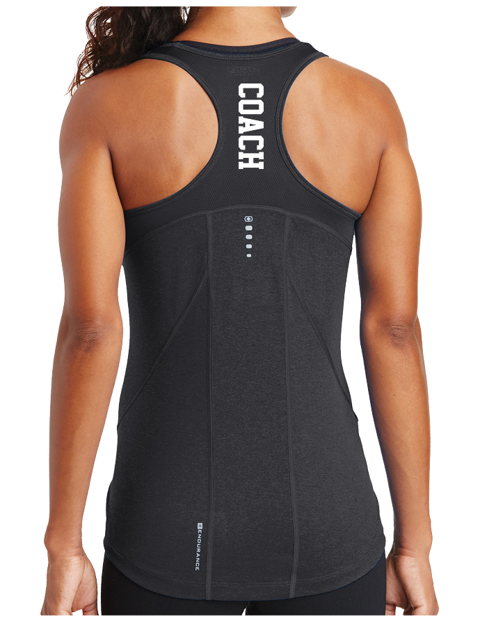 ACF Coach Endurance Ladies Racerback Pulse Tank (Blacktop)