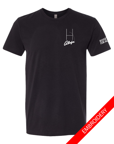 Alofa Rugby For All Mens Premium Sueded Tee (Black)