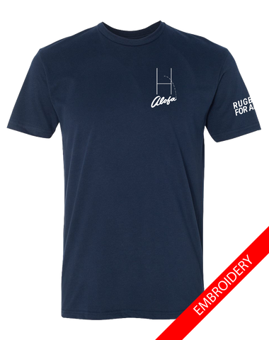 Alofa Rugby For All Mens Premium Sueded Tee (MidnightNavy)