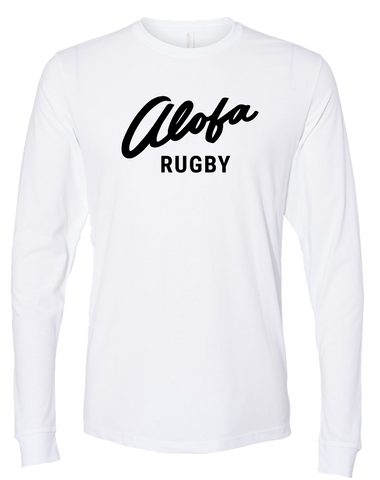 Alofa Rugby Mens Premium Sueded Long Sleeve (White)
