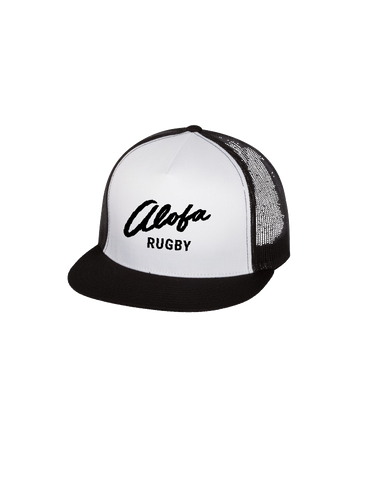 Alofa Rugby Trucker Cap (Black-White)