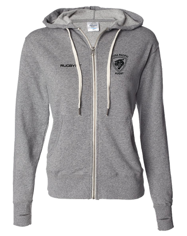 Azusa Pacific Full Zip Hoodie (Salt-N-Pepper)