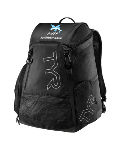 Aliso Viejo Swim Personalized Backpack (Black)