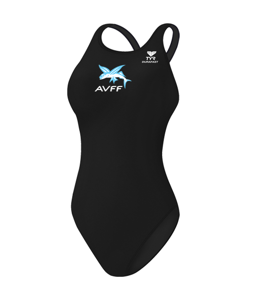 Aliso Viejo Swim Girls Competition Suit (Black)
