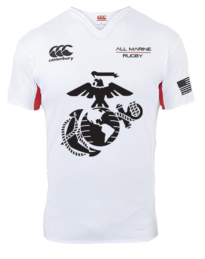All Marine Rugby Match Day Jersey (White / Red)