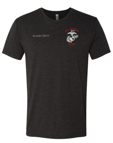 All Marine Rugby Mens Tee (Vintage Black)