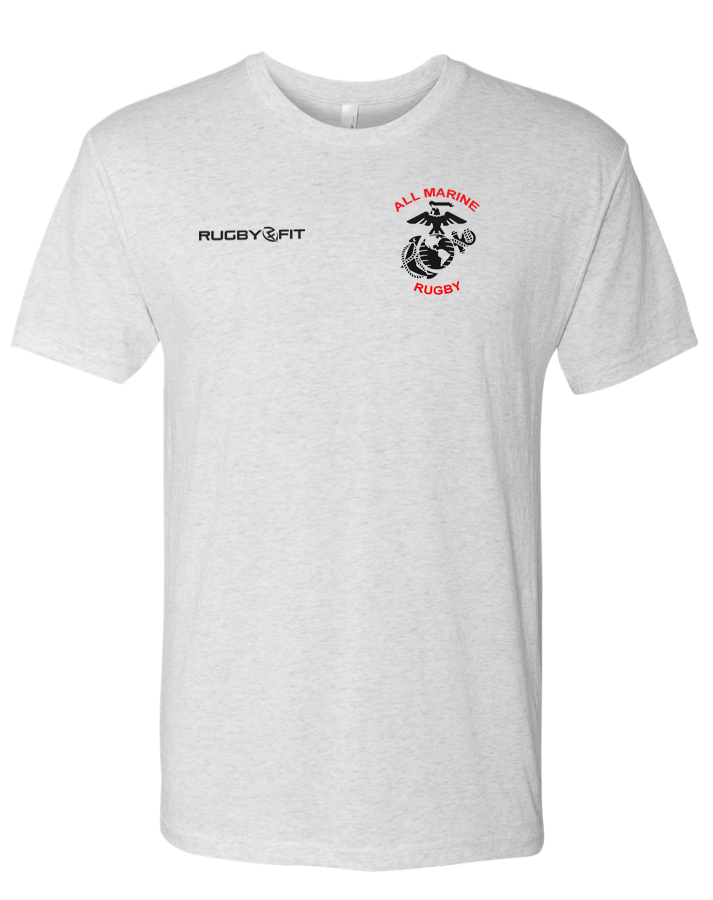 All Marine Rugby Mens Tee (Heather White)