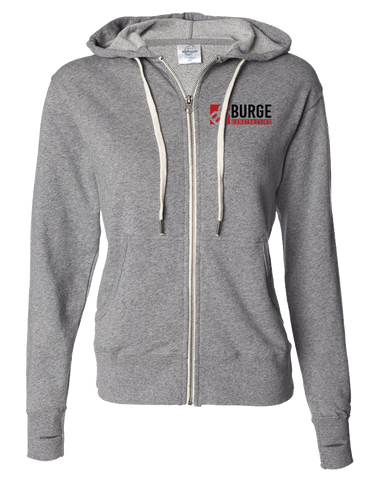 Burge Full Zip Hoodie (Salt-N-Pepper)