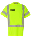 Burge Class 3 Short Sleeve Safety Shirt (SafetyLime)