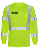 Burge Class 3 Long Sleeve Safety Shirt (SafetyLime)