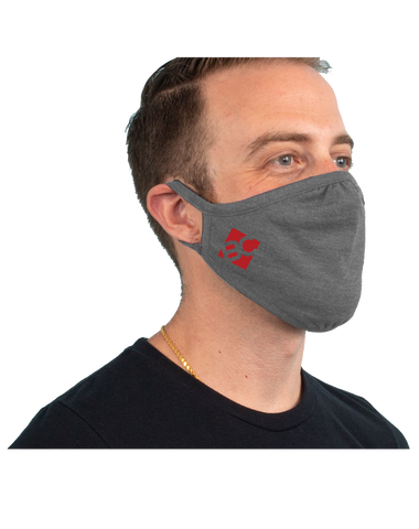 Burge 3-Pack Tri-Blend Face Mask (PremiumHeather)
