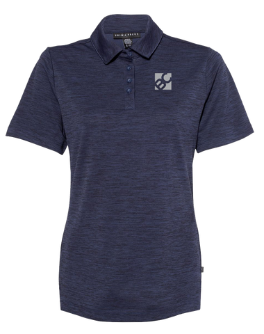 Burge Ladies Pique Sport Polo (NavyHeather)