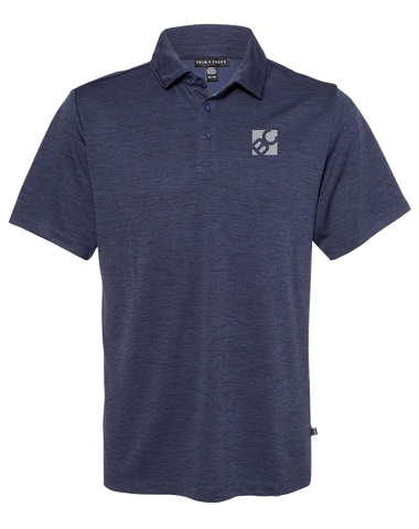 Burge Pique Sport Polo (NavyHeather)