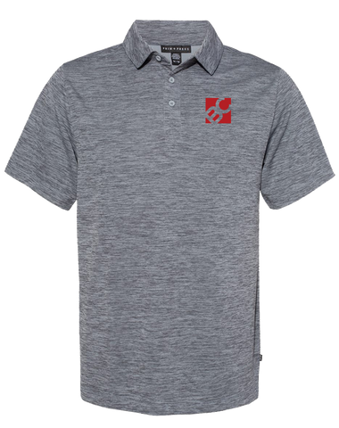 Burge Pique Sport Polo (SteelHeather)