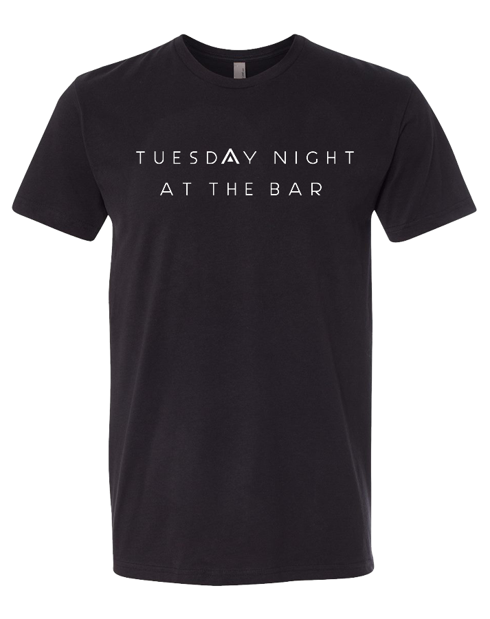 CFAP At The Bar Mens Premium Sueded Tee (Black)