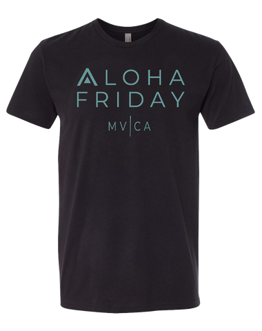 CFAP Aloha Friday Mens Premium Sueded Tee (Black)
