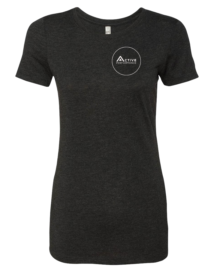 CFAP Circle Icon Womens TriBlend Tee (VintageBlack)