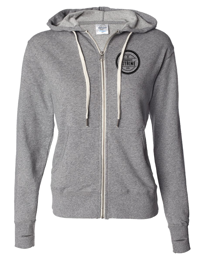 CF Citrine Full Zip Hoodie (Salt-N-Pepper)