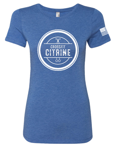 CF Citrine Womens Tri-Blend Tee (VintageRoyal)