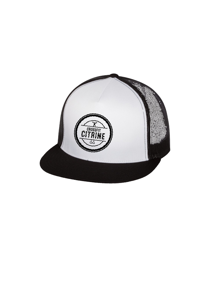 CF Citrine Trucker Cap (Black-White)