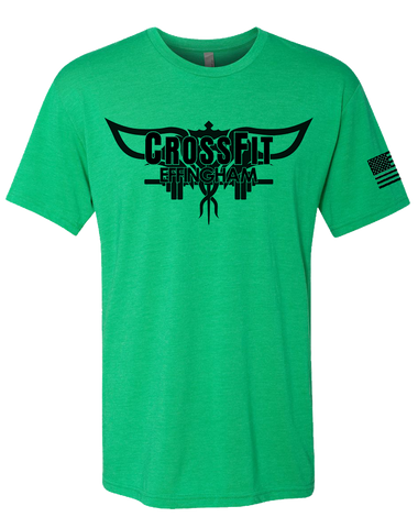 CF Effingham Core Mens Tri-Blend Crew (EnvyGreen)