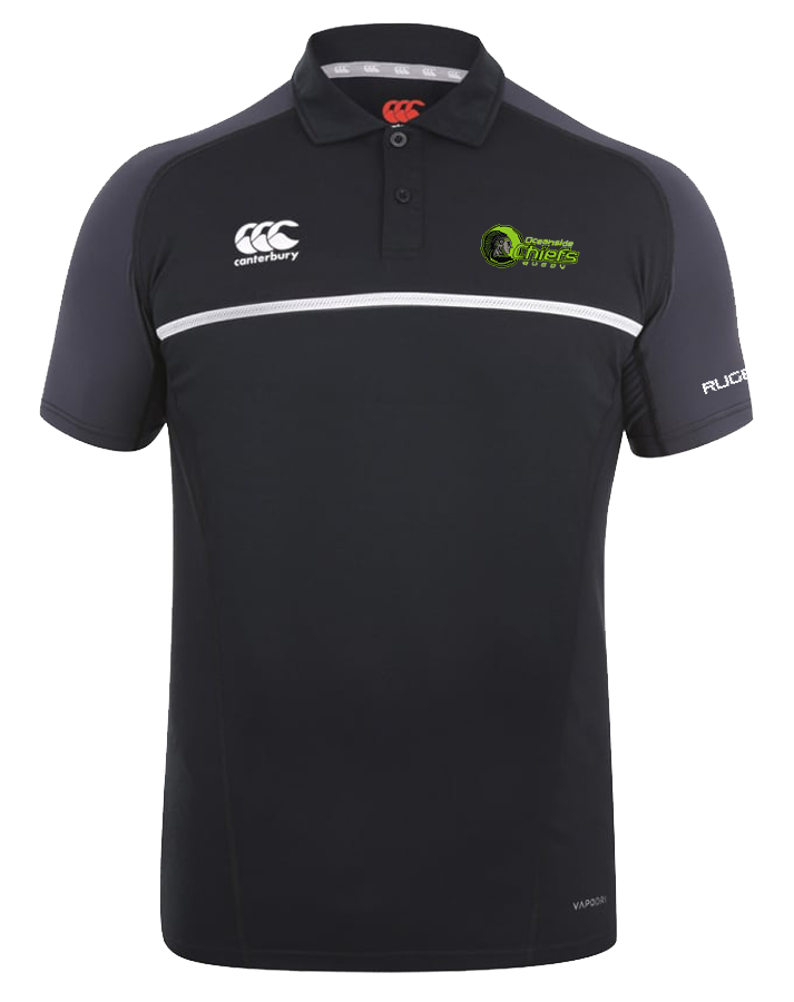 Chiefs Rugby Pro Dry Polo (Black-Tonal)