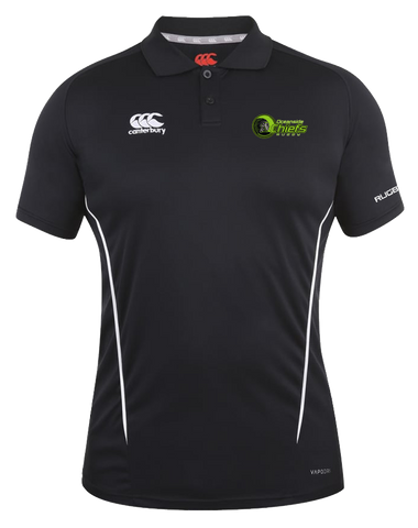 Chiefs Rugby Vapodri Polo (Black-White)