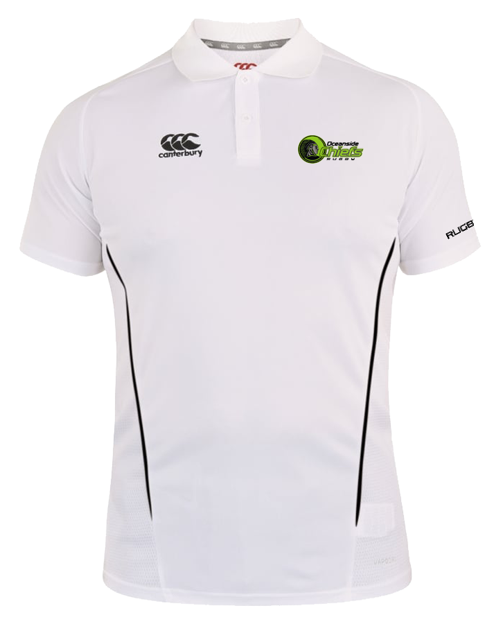 Chiefs Rugby Vapodri Polo (White-Black)