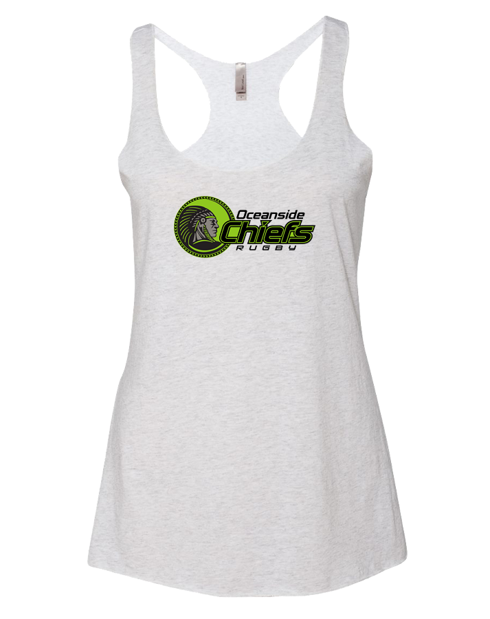 Chiefs Rugby Womens Tri-Blend Racerback Tank (HeatherWhite)