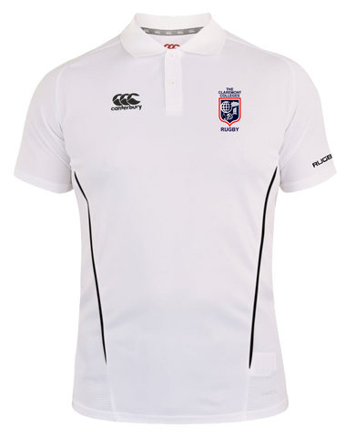CCR Rugby Vapodri Polo (White-Black)