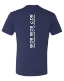 CCR Rugby Champions Mens Tri-Blend Crew Made in USA (VintageNavy)