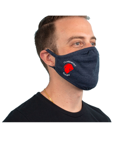 CCR Rugby 3-Pack Tri-Blend Face Mask (VintageNavy)
