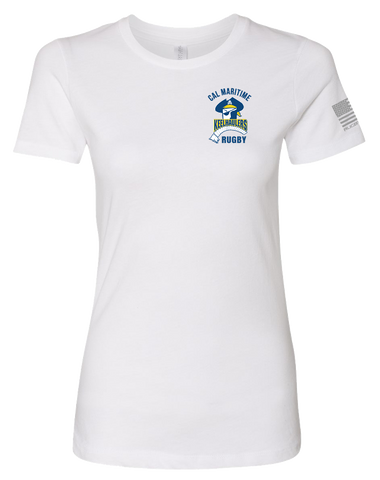 Cal Maritime Womens The Boyfriend Tee (White)