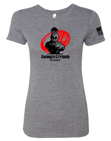 Coconuts Rugby Dead Rabbit Womens Tri-Blend Tee (PremiumHeather)