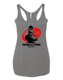 Coconuts Rugby Dead Rabbit Womens Tri-Blend Racerback Tank (PremiumHeather)