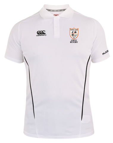 CSUF Rugby Vapodri Polo (White-Black)
