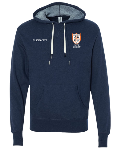 CSUF Rugby Pullover Hoodie (NavyHeather)
