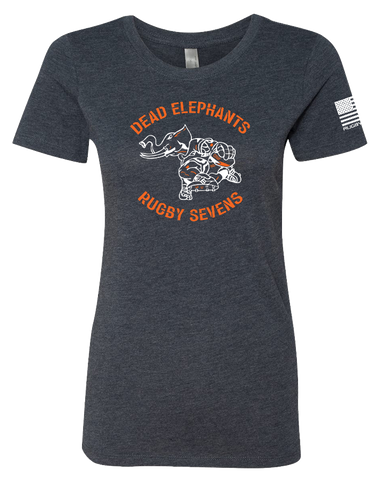 CSUF Rugby Dead Elephants Womens Tri-Blend Tee (VintageNavy)