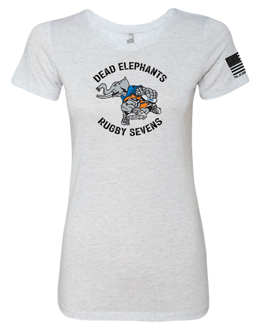 CSUF Rugby Dead Elephants Womens TriBlend Tee (HeatherWhite)
