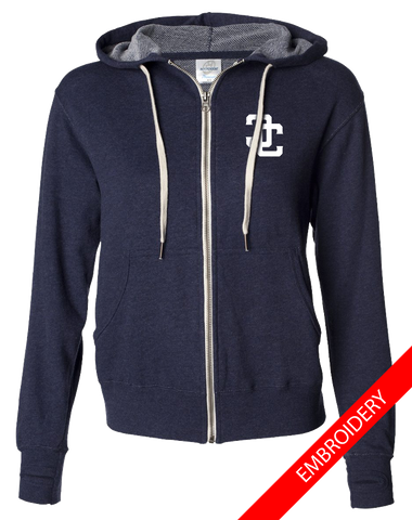 Cyclones Full Zip Hoodie (NavyHeather)