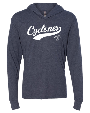 Cyclones Triblend Hooded Tee (VintageNavy)