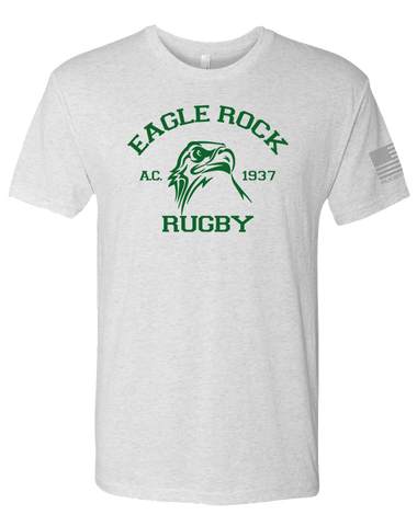 Eagle Rock Mens Tri-Blend Crew (HeatherWhite)
