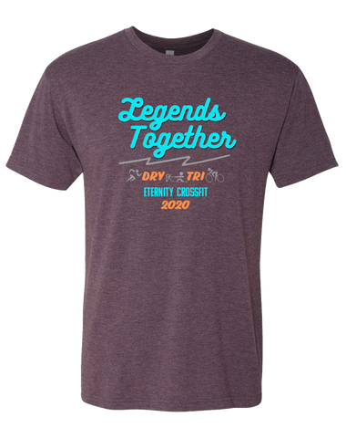 Eternity CF Legends Together Fund Raiser Mens Tri-Blend Crew (VintagePurple)