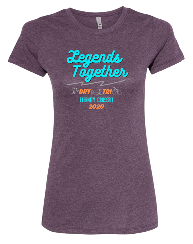 Eternity CF Legends Together Fund Raiser Womens Tri-Blend Tee (VintagePurple)